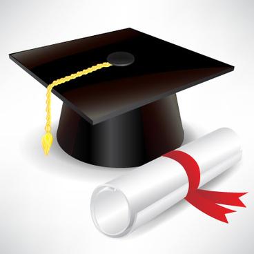 elements_of_graduation_cap_and_diploma_design_vector_527527